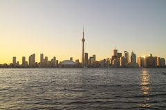Toronto Cityscape from Central Island Royalty Free Stock Photo