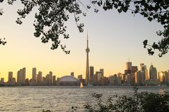Toronto Cityscape from Central Island Stock Photography