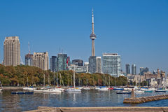 Toronto cityscape panorama CN Tower Royalty Free Stock Photography