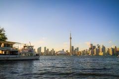 Toronto Cityscape during sunset Royalty Free Stock Photo