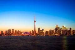 Toronto Cityscape during sunset Stock Photography