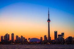 Toronto Cityscape during sunset Stock Images