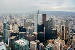 Toronto cityscape from the CN tower royalty free stock images