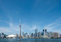 Toronto cityscape view from Ontario lake Royalty Free Stock Photos