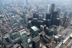 Toronto cityscape, view from the top, Toronto city, Canada. The city of Toronto in landscape format taken from the CN Tower. Royalty Free Stock Photography
