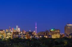 Toronto cityscapepanorama i natt Royaltyfria Foton