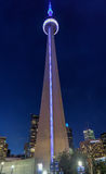 Toronto CN-torn på natten Arkivfoton