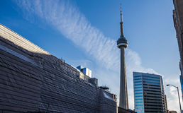 Toronto CN Tower and Union Renovation Stock Photo