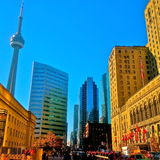 CanadaToronto - CN Tower and Union Station Stock Image