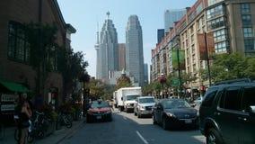 Toronto CN wierza śródmieścia przodu ulica Zdjęcie Royalty Free