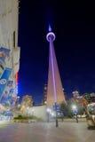 Toronto CN wierza przy nocą Fotografia Royalty Free