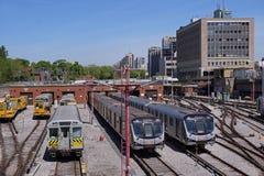 Toronto commuter trains Royalty Free Stock Image