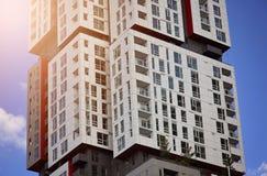 Toronto Condominium in a trendy district. On the Ontario lake shore stock image