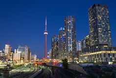 Toronto Condos And The CN Tower Royalty Free Stock Image