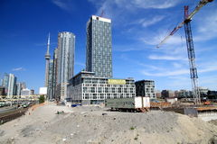 Toronto Construction Area Royalty Free Stock Photos