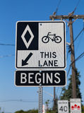 Toronto Cycle Lane Stock Photos