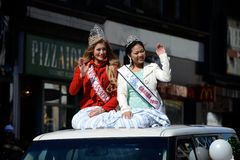 Parada anual do dia do St. Patrickâs de Toronto Foto de Stock Royalty Free