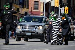 Desfile anual del día del St. Patrickâs de Toronto fotografía de archivo