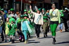 Desfile anual del día del St. Patrickâs de Toronto fotografía de archivo libre de regalías