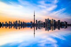 Toronto de stad in Stock Foto