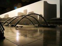 Toronto debajo de la lluvia Fotos de archivo libres de regalías