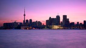 Toronto an der Dämmerung Lizenzfreies Stockbild