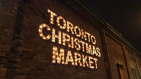 Toronto distillery market christmas old toronto stock photos
