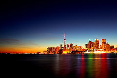Toronto dorata Fotografie Stock