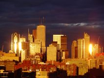 Toronto dorata Fotografia Stock Libera da Diritti
