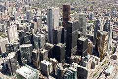 Toronto downtown. This picture of Toronto downtown was made from CN-Tower Royalty Free Stock Photo