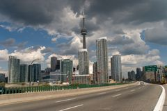 Toronto downtown. View from lake Stock Image