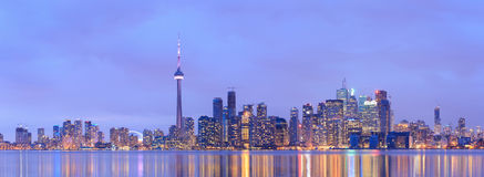 Toronto Downtown Cityscape at Dusk Stock Image