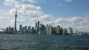 Toronto downtown. Cn tower, lake stock photography