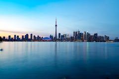 Toronto DownTown. Skyline of Toronto DownTown with Lake Ontario stock photos