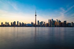 Toronto DownTown. Skyline of Toronto DownTown with Lake Ontario Royalty Free Stock Images