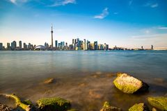 Toronto DownTown. Skyline of Toronto DownTown with Lake Ontario stock images