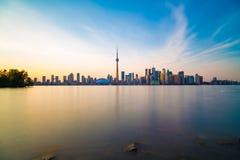 Toronto DownTown. Skyline of Toronto DownTown with Lake Ontario Royalty Free Stock Photos