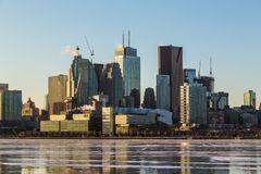 Toronto Downtown Skyline in the Winter Months Royalty Free Stock Photo