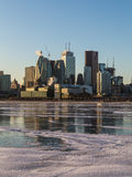 Toronto Downtown Skyline in the Winter Months Royalty Free Stock Images