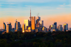 Toronto Downtown at Sunrise Stock Images