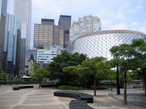 Toronto Downtown Theatre District. Roy Thomson Hall - home of Toronto Symphony Orchestra Stock Photos