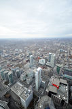Toronto downtown vertical view Royalty Free Stock Image