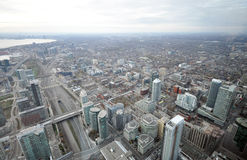 Toronto downtown. View on the streets of Toronto City, Ontario province, Canada. The photo was taken in November 2013 Stock Images
