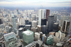 Toronto downtown. View on the streets of Toronto City, Ontario province, Canada. The photo was taken in November 2013 stock photography
