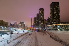 Toronto Downtown in the Winter stock photos