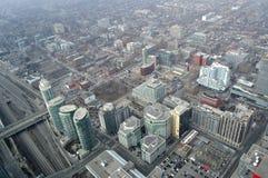 Toronto du centre, vue aérienne Photographie stock libre de droits