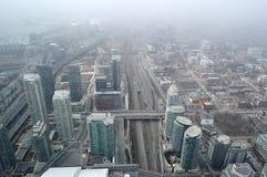 Toronto du centre, vue aérienne Photo libre de droits