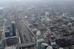 Toronto du centre, vue aérienne Photos libres de droits