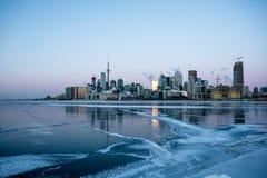 Toronto durante un invierno extremo Imagenes de archivo