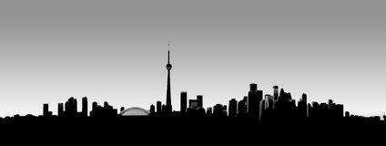 Toronto Dusk. Darkening panoramic sky over Toronto, Ontario, Canada Royalty Free Stock Image